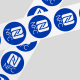 NFC tags blauw
